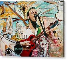 Dave Matthews Shotgun Acrylic Print by Joshua Morton