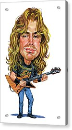 Dave Mustaine Acrylic Print by Art