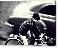 Dave On A Bike Acrylic Print