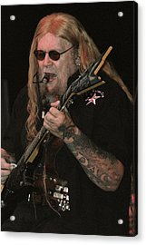 David Allan Coe Acrylic Print by Joe Bledsoe