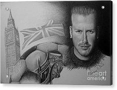 David Beckham Acrylic Print by Geni Gorani