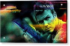 David Beckham Acrylic Print by Marvin Blaine
