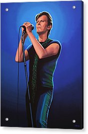 David Bowie 2 Painting Acrylic Print by Paul Meijering