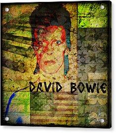 David Bowie Acrylic Print by Absinthe Art By Michelle LeAnn Scott