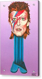 David Bowie Acrylic Print by Brent Andrew Doty