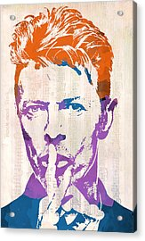 David Bowie Acrylic Print by Paulette B Wright