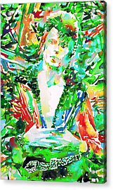 David Bowie Watercolor Portrait.2 Acrylic Print