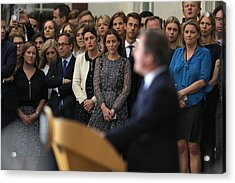 David Cameron's Last Day As The Uk's Prime Minister Acrylic Print by Dan Kitwood