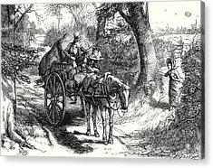 David Copperfield I Saw To My Amazement Peggotty Burst Acrylic Print