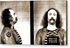 David Crosby Mugshot Acrylic Print by Dan Sproul