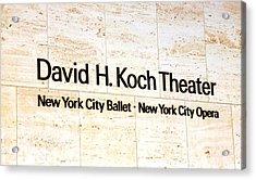 David H. Koch Theater Acrylic Print
