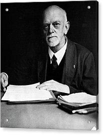 David Hilbert Acrylic Print by Emilio Segre Visual Archives/american Institute Of Physics