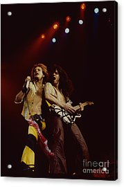 David Lee Roth And Eddie Van Halen - Van Halen- Oakland Coliseum 12-2-78   Acrylic Print