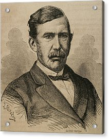 David Livingstone 1813-1873. Engraving Acrylic Print by Bridgeman Images