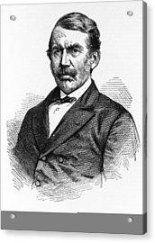 David Livingstone, Scottish Explorer Acrylic Print by Science Photo Library