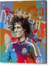 David Luiz Acrylic Print by Corporate Art Task Force