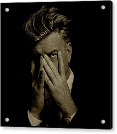 David Lynch Hands Acrylic Print by YoPedro