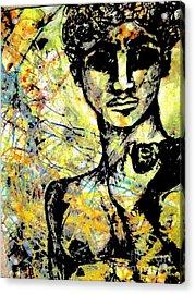 David Of Goliath Acrylic Print by Amy Sorrell