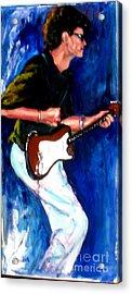 David On Guitar Acrylic Print