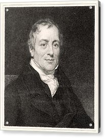David Ricardo  Economist        Date Acrylic Print by Mary Evans Picture Library