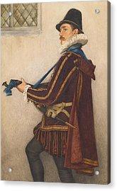 David Rizzio Acrylic Print by Sir James Dromgole Linton