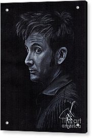 David Tennant 3 Acrylic Print by Rosalinda Markle