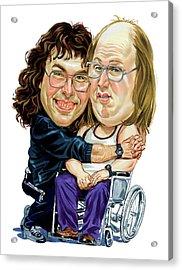 David Walliams And Matt Lucas As Lou And Andy Acrylic Print by Art