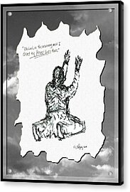 David's Prayer - Sketch Acrylic Print