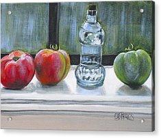 David's Tomatos Acrylic Print by Melissa Torres