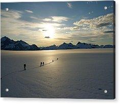 Davidson Glacier - Chilkat Range Acrylic Print by Ryan Fell