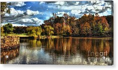 Davidson Mill Pond 2 Acrylic Print by Louise Reeves