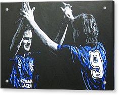 Davie Cooper - Ally Mccoist - Glasgow Rangers Fc Acrylic Print