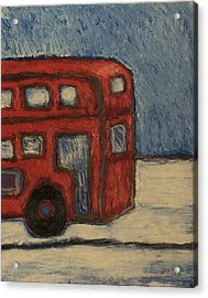 Acrylic Print featuring the painting Davis Unitran Bus by Clarence Major