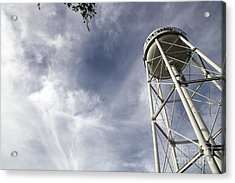Davis Water Tower Acrylic Print by Juan Romagosa