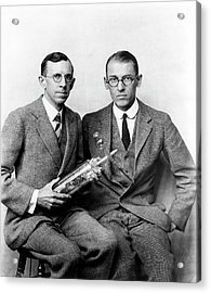 Davisson And Germer Acrylic Print by Emilio Segre Visual Archives/american Institute Of Physics