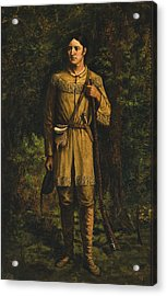 Acrylic Print featuring the painting Davy Crockett by Celestial Images