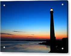 Acrylic Print featuring the photograph Dawn At Barnegat Light by James Kirkikis