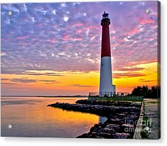 Dawn At Barnegat Lighthouse Acrylic Print by Mark Miller