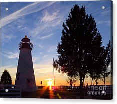 Dawn At Concord Point Lighthouse Acrylic Print