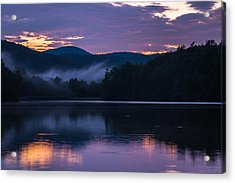 Acrylic Print featuring the photograph Dawn At Julian Price Lake by Serge Skiba