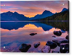 Dawn At Lake Mcdonald Acrylic Print