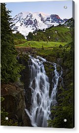 Dawn At Myrtle Falls Acrylic Print