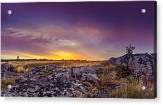 Dawn At Steppe Acrylic Print