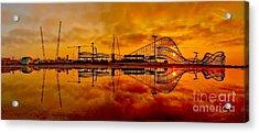 Dawn At Wildwood Pier Acrylic Print by Nick Zelinsky