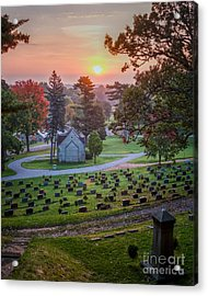 Acrylic Print featuring the photograph Dawn At Woodlawn II Winona Photograph by Kari Yearous