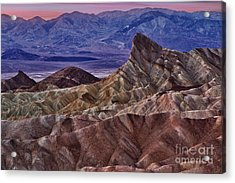 Acrylic Print featuring the photograph Dawn At Zabriskie Point by Jerry Fornarotto