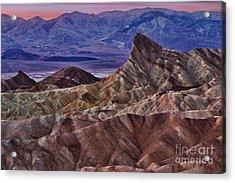 Dawn At Zabriskie Point Acrylic Print by Jerry Fornarotto