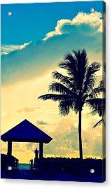 Dawn Beach Pyramid Acrylic Print