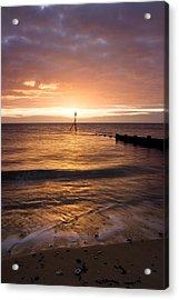 Dawn By The Sea Acrylic Print by Mara Acoma
