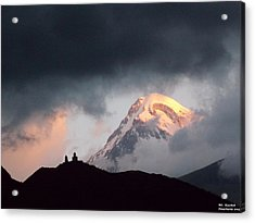 Dawn Caressing Mt Kazbek 2 Acrylic Print